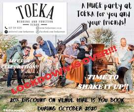 Party at Toeka for you and your friends