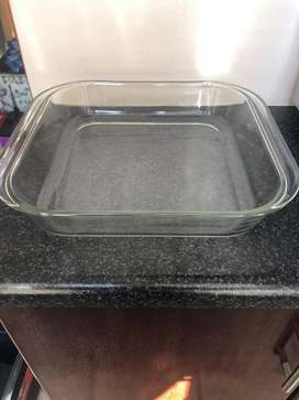 Oven glass dish