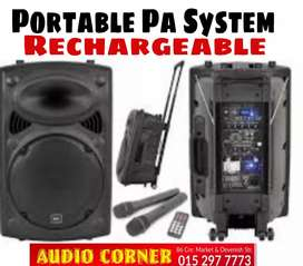 """Portable Speaker Rechargeable Hi quality 15"""""""