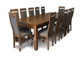 Duży Zestaw MYDEŁKO Stół Rozkładany + 12 Krzeseł W Super Cenie! HIT