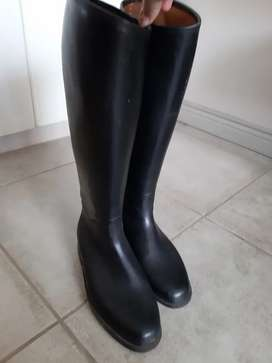 Ladies Tall Knee-high Rubber Riding Boots