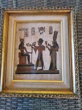Egyptian papyrus  framed