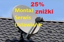 Montaż,ustawianie anten satelitarnych,naziemnych-najtaniej Lubelskie!