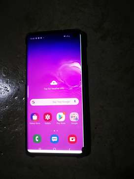 Samsung S10 with a line on the screen