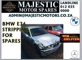 Bmw e36 stripping for spares  At Majestic Motor Spares we are strippin