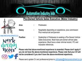 Pre-Owned Vehicle Sales Executive (Motor Industry)