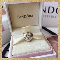 Шарм Сердце принцессы (с короной) Pandora