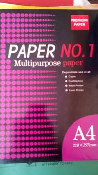 White printing paper in reams 0