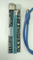 Райзер / Riser 009C MOLEX/SATA/6PIN сата, универсальный, кабель 60 см
