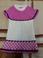Туника платье вязаное на 6-7 лет