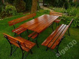 MEBLE OGRODOWE ZESTAW 170 CM stół 2x ławka 2x fotel