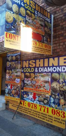 Gold and Diamond Exchange ( Cash  4 Gold, Diamond )R300per 9ct