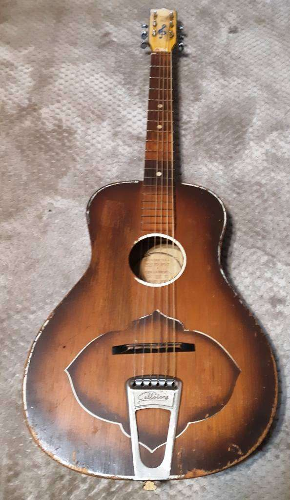 Vintage 1950`s Gallotone Champion Guitar with character-Still plays 0