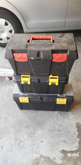 Toolboxes x 3 ' stuff ' inside