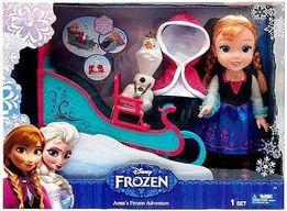 Анна и Олаф Фрозен Frozen Фроузен на санях