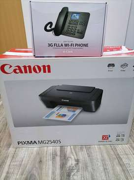 3G Mobile telephone and cannon printer