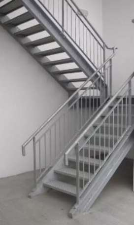 Indoors and outdoors structural Steel Staircases
