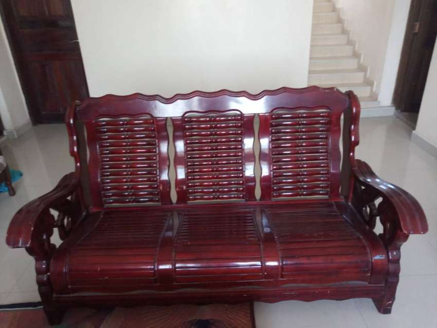 Hard wood sofa set 0