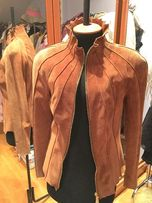 Кожаная замшевая натуральная женская осенняя куртка. Дешево.