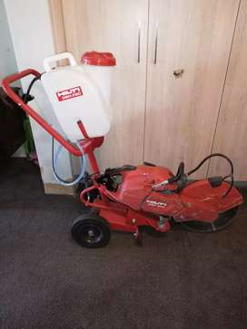 Hilti DSH 900 concrete saw and trolley