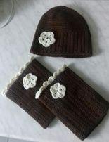 Czapki chusty rękawiczki na szydelku