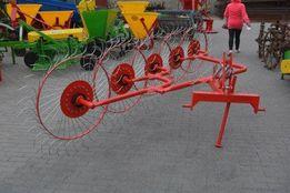 Грабли-ворошилки польские Agromech 4 5 колес Борона Опрыскиватель Плуг