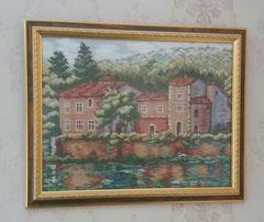 Картина, вышивка крестиком, ручная работа