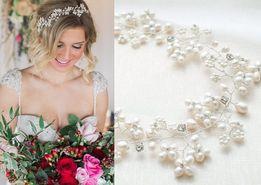Свадебное украшение для волос. Веточка в прическу невесты