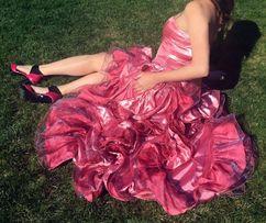 Платье нарядное вечернее длинное в пол розовое