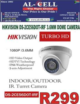 HIKVISION DS-2CE56DOT-IRF 3.6MM DOME CAMERA