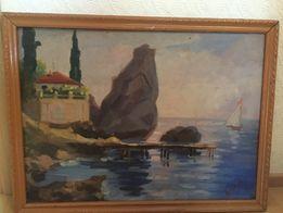 "Картина ""Пейзаж Море"" масло на холсте"