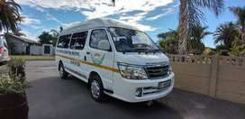 This is a Jinbei 14 seater bus.