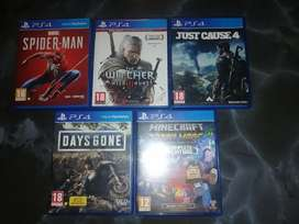 Playstation 4 Games for sale, R200 each, R300 Spider Man, negotiable