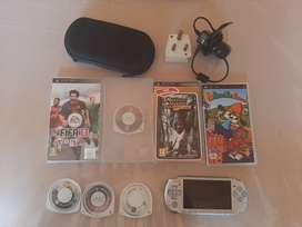 PSP 3000 with accessories