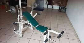 Trojan bench and 50kg weights
