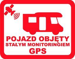 n247-Naklejka na Kamper / pojazd pod nadzorem GPS