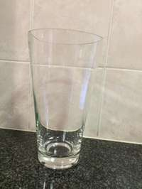 Image of Large round glass vase (clear)