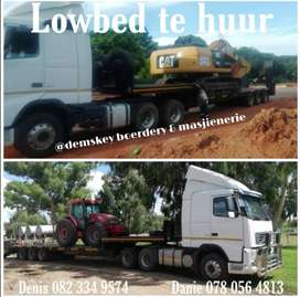 Lowbed te huur/Lowbed to rent