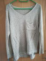 Sweter damski złoty z cekinami L
