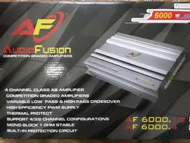 Audiofusion 6000w 4 channel amplifier