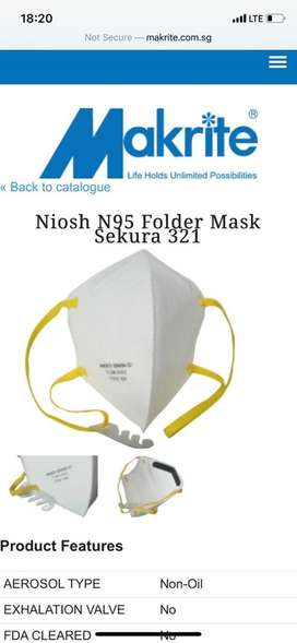 N95 Orignal Masks with Certificates