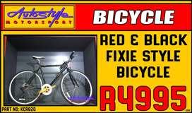 Fixie style brand new bicycle with S-RAM X-4 GEAR System.  bike carrie