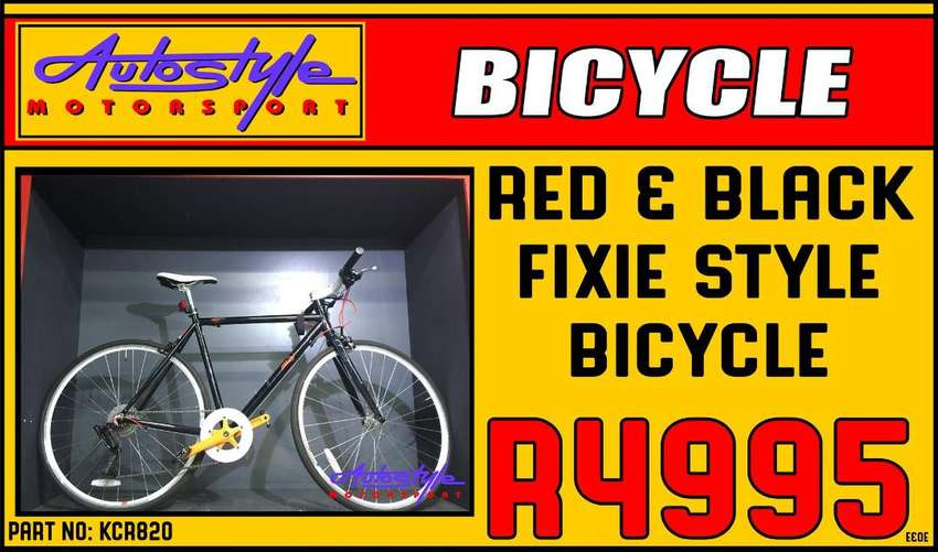 Fixie style brand new bicycle with S-RAM X-4 GEAR System.  bike carrie 0