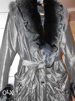 Продам женскую куртку с натуральным меховым воротником