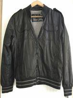 Meska kurtka bluza wiatrowka cienka wiosna lato ściągacz czarna szara