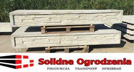 PROMOCJA Producent Podmurówka betonowa ŁUPANA 246x30x5 cm PANEL SIATKA