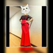 Вечернее платье красное в пол