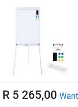 White Board with Stand, Basically Brand New