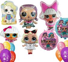 Шары Куклы Лол LOL латексные 25 см (декор фотозона)