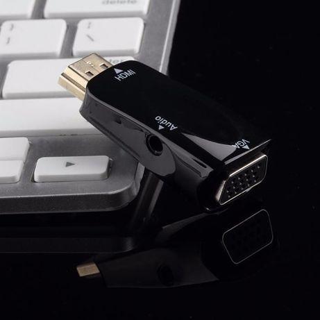 Конвертер переходник HDMI to VGA + ЗВУК , адаптер конвертор Кривой Рог - изображение 2